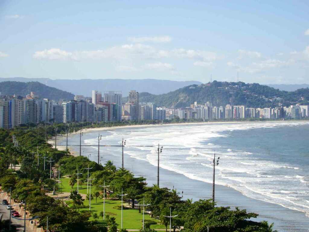 Soaking up some sun on the Beach is one of the best things to do in Santos, Brazil