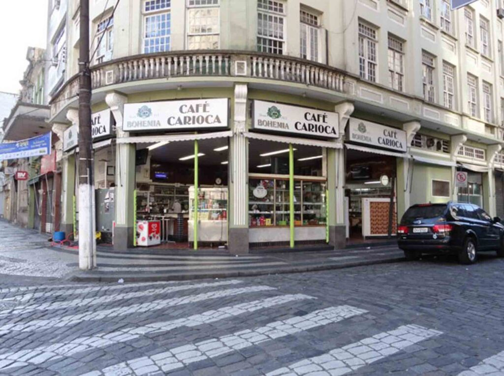 Having Coffee at Café Carioca Coffee Shop is one of the cool things to do in Santos, Brazil