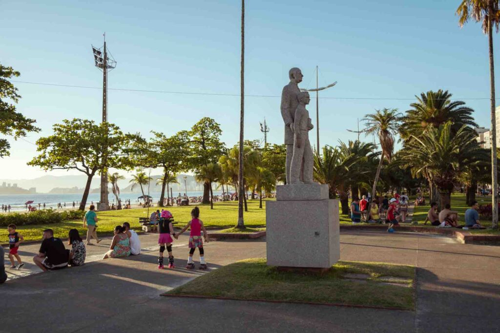 Wandering the beach garden along the Promenade is one of the fun things to do in Santos, Brazil