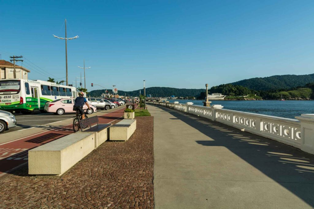 Cycling along the Promenade is one of teh cool things to do in Santos, Brazil