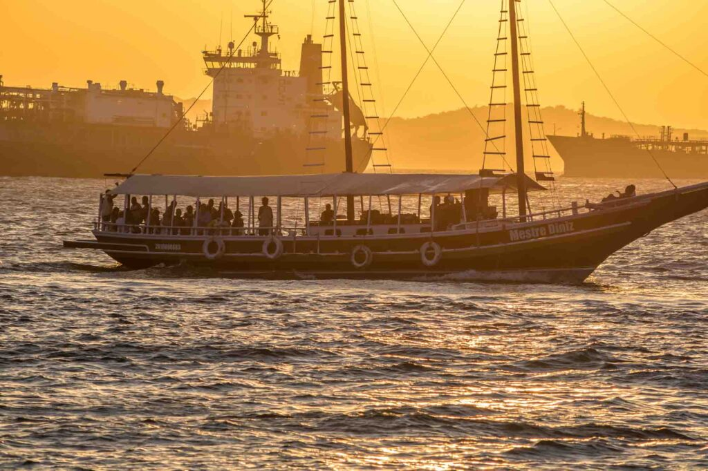 Taking a boat trip in Santos Bay is one of the fun things to do in Santos, Brazil