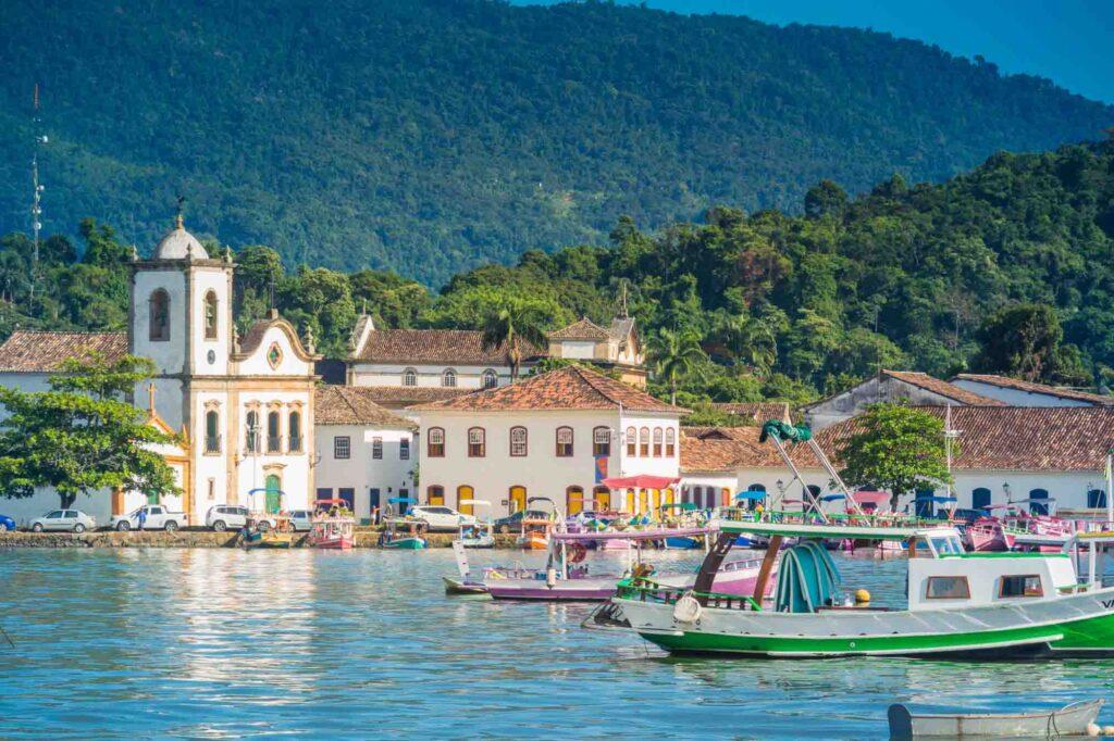 Colonial town in  Paraty, Rio de Janeiro, Brazil