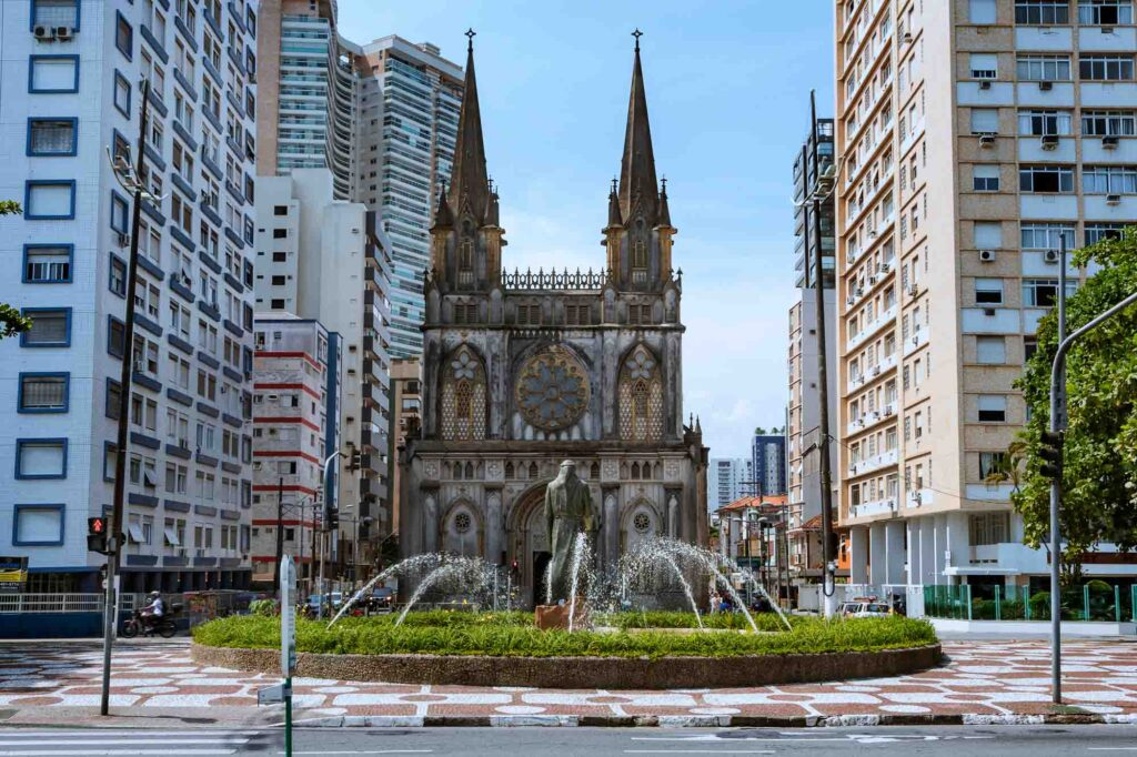 Stepping back in time at the Santo Antônio do Embaré Basilica is one of the best things to do in Santos, Brazil