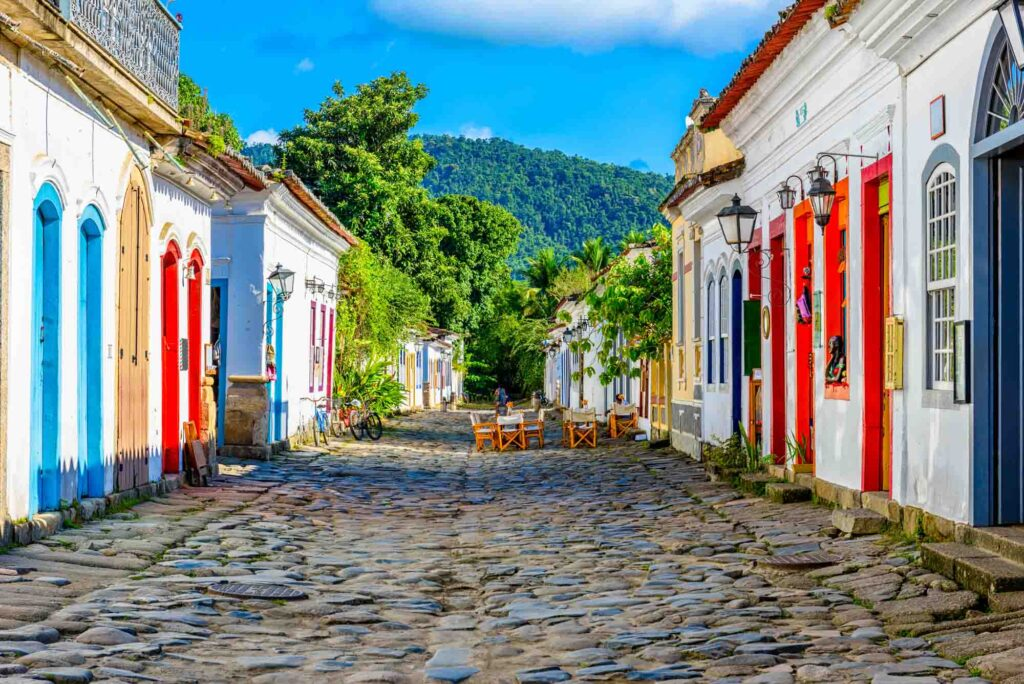 Walking around the Historical Center is one of the fun things to do in Paraty, Brazil