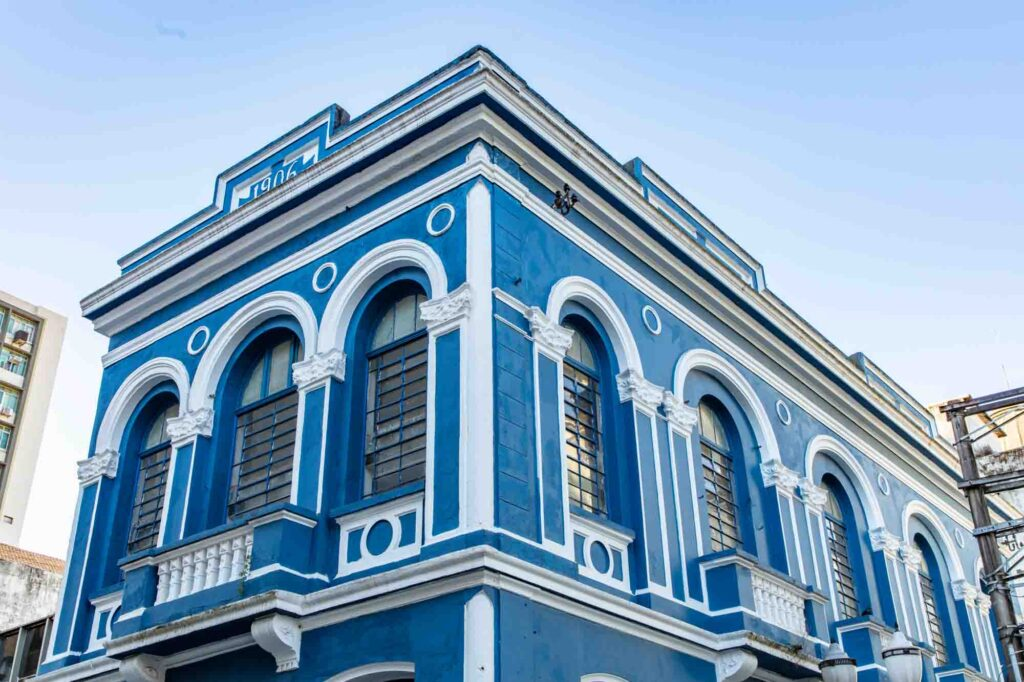 Old and Historical Building Center Santos City - in Sao Paulo, Brazil