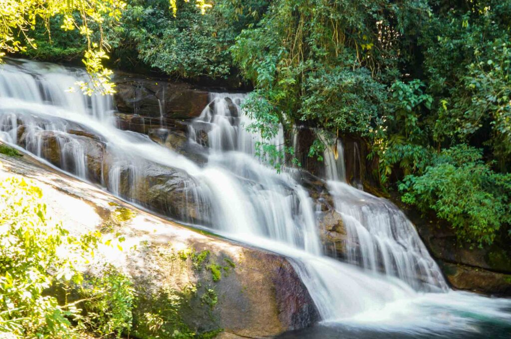 Visiting various  waterfalls is one of the best things to do in Paraty, Brazil