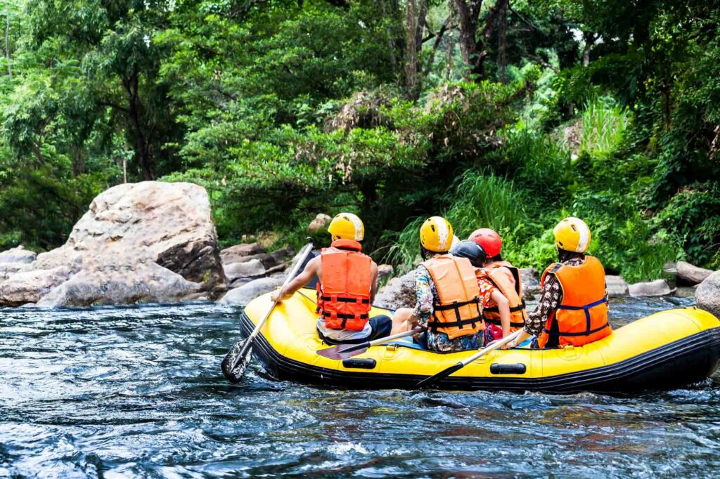 Going white water rafting on Mambucaba River is one of the best things to do in Paraty, Brazil